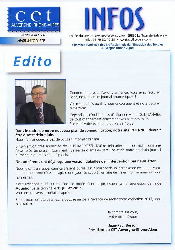 Journal d'informations CET - Page 1