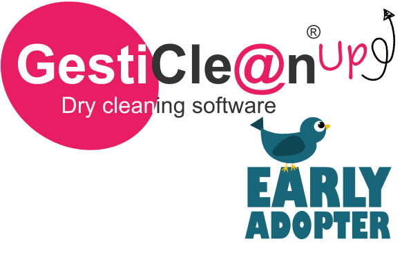 Logo programme EarlyAdopter GestiClean Up', logiciel de gestion pressing
